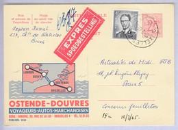 1071 Met Stempel Ixelles-Elsene 6 Op Express Publibel 2034 - 1953-1972 Lunettes