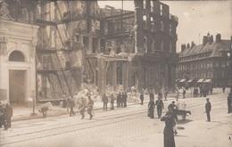 Unbekannte Stadt - Zerstörtes Gebäude, Fotokarte - Weltkrieg 1914-18