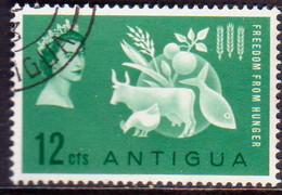 ANTIGUA 1963 SG #146 12c Used Freedom From Hunger - Antigua & Barbuda (...-1981)