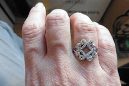 Neuf - Tres Belle Bague En Argent Et Zircons Style Faberge  Art Deco T 53-54 - Rings