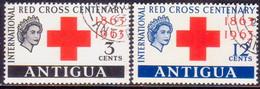 ANTIGUA 1963 SG #147-48 Compl.set Used Red Cross - Antigua & Barbuda (...-1981)