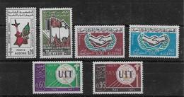 1965  Algérie  N° 405 à 410  Nf** MNH . - Algérie (1962-...)