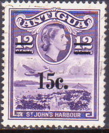 ANTIGUA 1965 SG #165 15c On 12c Used - Antigua & Barbuda (...-1981)