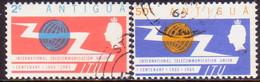 ANTIGUA 1965 SG #166-67 Compl.set Used ITU Centenary - Antigua & Barbuda (...-1981)