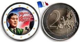 France - 2 Euro 2010 (Appel Du 18 Juin - 70éme Anniversaire - Color) - France