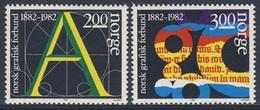 Norway Norge Norwegen 1982 Mi 872 /3 YT 828 /9 ** Cent Graphical Union Norway/ Gewerkschaftsverband Grafischen Industrie - Fabriken Und Industrien