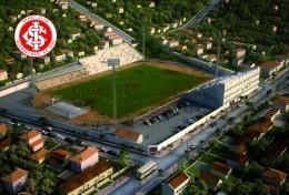 Stadium Das Eucaliptos (Sport Club Internacional,Brasil ) Postcard - Size: 15x10 Cm. Aprox. - Fútbol