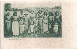 107240 PARAGUAY COSTUMES INDIOS NATIVE TOBAS SEMI NUDE POSTAL POSTCARD - Paraguay