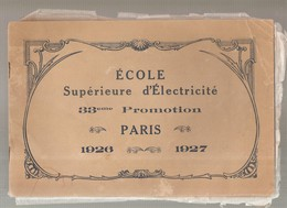 EDF Ecole Supérieure D'Electricité 33 ème Promotion Paris 1926-1927 - Sciences