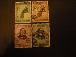 SVENDITA 1942 - G. ROSSINI, Serie Compl. Usata, 4 Val. Centrati, TTB - 1900-44 Vittorio Emanuele III