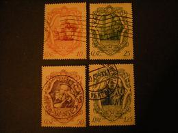 1942 - GALILEO GALILEI, Serie Compl. Usata, 4 Val. Centrati, TTB - 1900-44 Victor Emmanuel III.