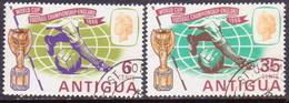 ANTIGUA 1966 SG #176-77 Compl.set Used Football - Antigua & Barbuda (...-1981)