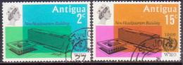 ANTIGUA 1966 SG #178-79 Compl.set Used WHO Headquarters - Antigua & Barbuda (...-1981)