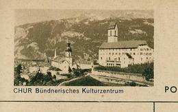 Carte Illustré Neuve N° 182 - 0100 D  - CHUR Bündnerisches Kulturzentrum   (Zumstein 2009) - Entiers Postaux