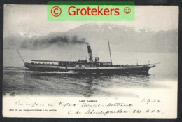 LAC LEMAN Ship HELVETIE Sent 1902 From Montreux To Belgium - VD Vaud