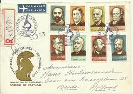 1966   Complete Set On FDC  Sent As  Registered Letter To Breda, Holland - FDC