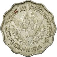 Monnaie, INDIA-REPUBLIC, 10 Paise, 1974, TTB, Aluminium, KM:28 - Inde