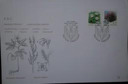 O) 1990 FINLAND-SUOMI, ORNAMENTAL PLANTS -FLOWERS HEATHER -WOOD ANEMONE, FDC XF - Finland