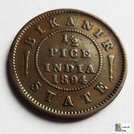 Indian Princely States - Bikanir - 1/2 Pice - 1894 - India