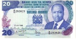 Kenya P.21  20 Shillings  1985 Unc - Kenia