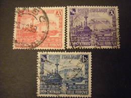OCCASIONE -1941,  Sass. N. 449/51, FERROVIE, L. Serie Cpl. Usata, TTB - 1900-44 Vittorio Emanuele III