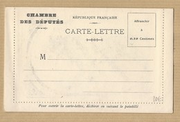 Carte Lettre Chambre Des Députés Vierge Photo Paix Salle Des Pas Perdus - Marcophilie (Lettres)