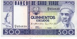 Cape Verde P.55 500 Escudos 1977 Unc - Cap Vert