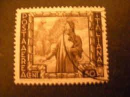 OCCASIONE -1941,  Sass. POSTA AEREA, IMPERO, Cent. 50 Usato, TTB - 1900-44 Vittorio Emanuele III