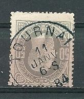 35 Gestempeld TOURNAI - Cote 15,00 (zie Opm) - 1869-1883 Léopold II