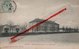 (Oise) Noyon - 60 - Quartier De Cavalerie, 1er Et 2e Escadrons (circulé 1906) - Noyon