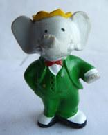 FIGURINE MARQUE INCONNUE BABAR  - DE BRUNHOFF MAIN DANS LA POCHE 1990 PVC - Figurines