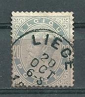 39 Gestempeld LIEGE - Cote 12,00 - 1883 Leopold II