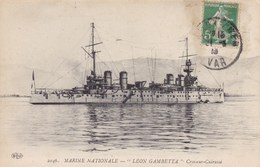 """LEON GAMBETTA""  CROISEUR-CUIRASSE"" (dil177) - Guerre"