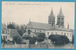 MELUN - L'Eglise Notre-Dame, Vue Des Quais - Melun