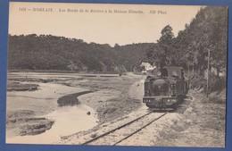Cpa - Finistère Morlaix Les Bords De La Rivière à La Maison Blanche Train Locomotive - France