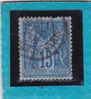 SAGE N° 90a  Bleu Sur Bleu   + CAD  31 JANV 1891   - REF 14017  Cote 20€ - 1876-1898 Sage (Type II)