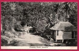 Jamaica - Jamaique - Country Road - Animée - Edit. J.W. CLEARY - Jamaïque