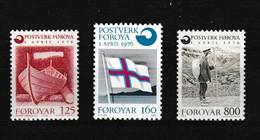 Faeroer 1976 Nr 15/17 **, Zeer Mooi Lot Krt 4088 - Féroé (Iles)