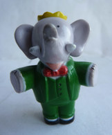 FIGURINE MARQUE INCONNUE BABAR  - DE BRUNHOFF BRAS ECARTES (2) PVC - Figurines