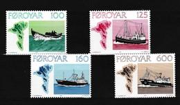 Faeroer 1977 Nr 18/21 **, Zeer Mooi Lot Krt 4089 - Féroé (Iles)
