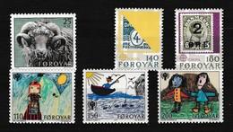 Faeroer 1979 Nr 36/41 **, Zeer Mooi Lot Krt 4094 - Féroé (Iles)