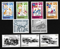 Faeroer 1982 Nr 64/72 **, Zeer Mooi Lot Krt 4100 - Féroé (Iles)