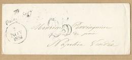 Enveloppe Avec Cursive Du 2/11/1853 Taxe Tampon 25 Vers Napoléon Verso Voir Scans - 1849-1876: Classic Period