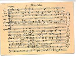 Tematica Musica Spartito Silent Night Viaggiata 1991 Condizioni Come Da Scansione - Music
