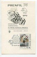 PRENFIL 74 UPU EXPOSICION INTERNACIONAL DE PRENSA FILATELICA PERIODICA TARJETA ARGENTINA PRIMER DIA EMISION FDC -LILHU - U.P.U.