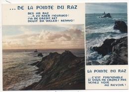 La Pointe Du Raz Et Le Phare De La Vieille, Au Verso Cachet De L'hôtel Du Bout Du Monde - France