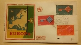 MONACO 1°  Jour.d'émission..FDC . ..1968  EUROPA - Joint Issues