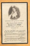 IMAGE GENEALOGIE FAIRE PART AVIS DECES  BARONNE  DE LA ROQUE CHATEAU  DES PRES  1933 - Décès