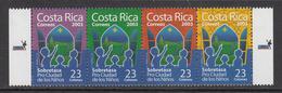 2003 Costa Rica Noel Christmas Navidad Strip Of 4   MNH - Costa Rica