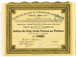 Société Des Ateliers De Construction D'Automobiles  TURCAT, MÉRY & Cie - Automobile
